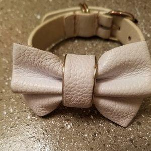 Nordstrom, White Leather Bow Bracelet